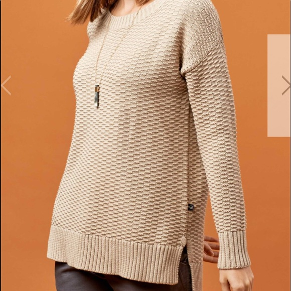 United by Blue Himley Waffle Sweater (Stone) NWT